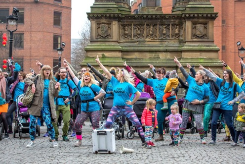 Mamas Collective at Mother Pukka Flex Appeal flashmob